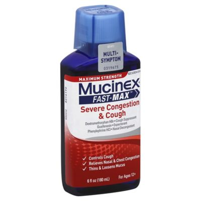 Mucinex® Fast-Max™ Severe Congestion & Cough 6 oz. Liquid Cough Suppressant
