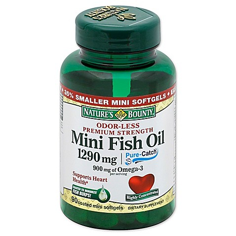 Buy nature 39 s bounty 90 count odorless mini fish oil 1290 for Odorless fish oil