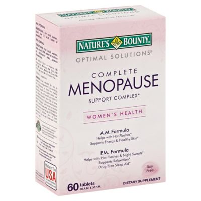 Nature's Bounty 60-Count Complete Menopause Support Complex AM/PM Formula Tablets