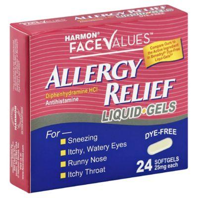 Harmon® Face Values™ Allergy Dye Free 24-Count Liquid Caps