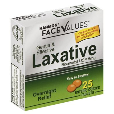 Harmon® Face Values™ 25-Count Bisacodyl Laxative Tablets