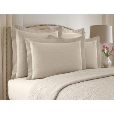 Wamsutta Collection® Linen Cotton Blend Standard Pillow Sham in Natural