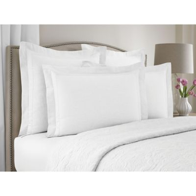 Wamsutta Collection® Linen Cotton Blend Standard Pillow Sham in White