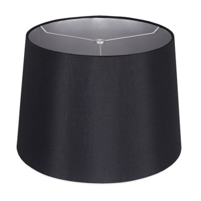 Mix & Match Medium 14-Inch Shantung Hardback Drum Lamp Shade in Black