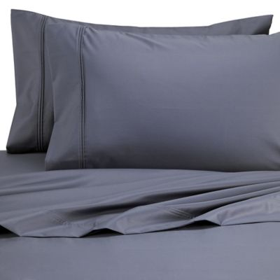 Perfect Touch 625-Thread-Count Egyptian Cotton King Deep Pocket Sheet Set in Blue