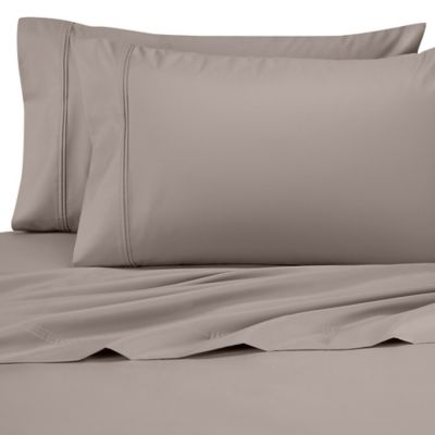 Perfect Touch 625-Thread-Count Egyptian Cotton King Deep Pocket Sheet Set in Silver