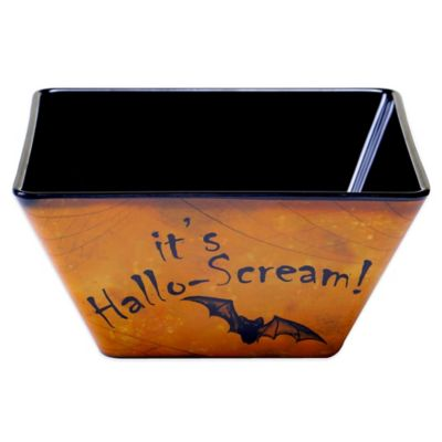 Certified International Eat, Drink and Be Scary Ice Cream Bowl in Black