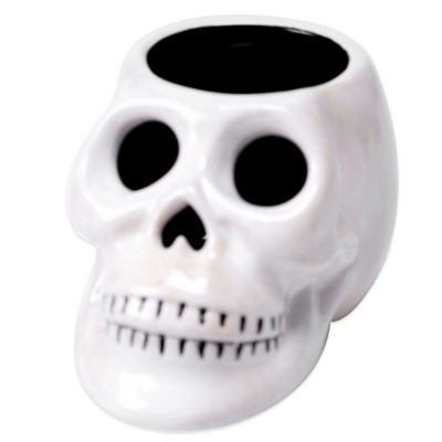Certified International Eat, Drink and Be Scary 3-D Skull Tealight Holder