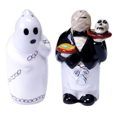 Certified International Eat, Drink and Be Scary Salt & Pepper Set
