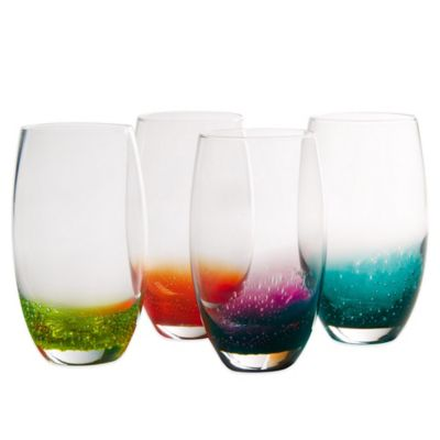 Artland® Fizzy Highball Glasses in Assorted Colors (Set of 4)