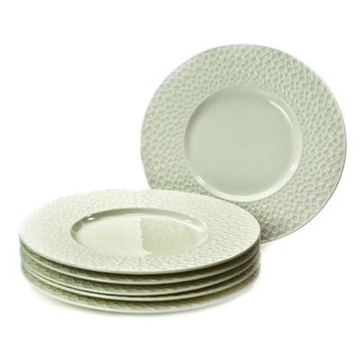Classic Coffee & Tea Clover Leaf Dessert Plates in White(Set of 6)