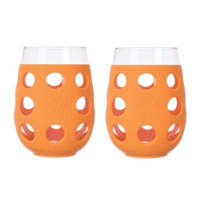 Orange Wine Glasses