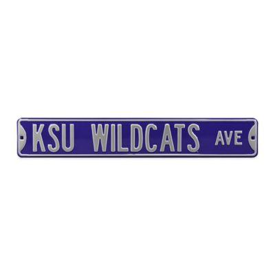 Kansas State University Steel Street Sign
