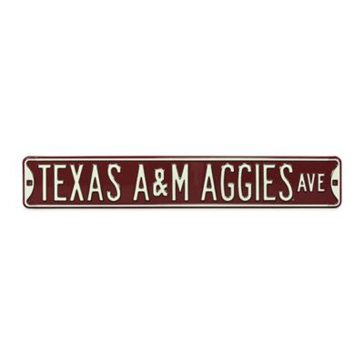Texas A&M University Steel Street Sign