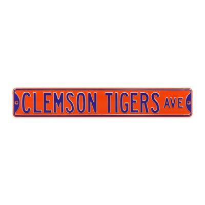 Clemson University Steel Street Sign