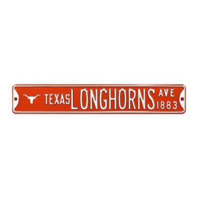 University of Texas Steel Street Sign