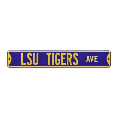 LSU Steel Street Sign