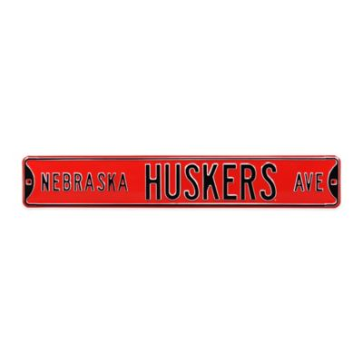 University of Nebraska Steel Street Sign