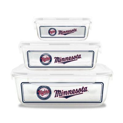MLB Minnesota Twins 6-Piece Glass Food Container Set