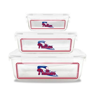 MLB Philadelphia Phillies 6-Piece Glass Food Container Set