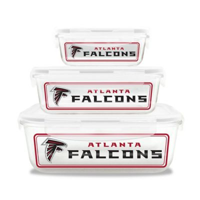 NFL Atlanta Falcons 6-Piece Glass Food Container Set