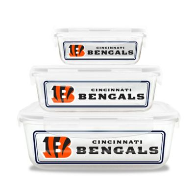 NFL Cincinnati Bengals 6-Piece Glass Food Container Set