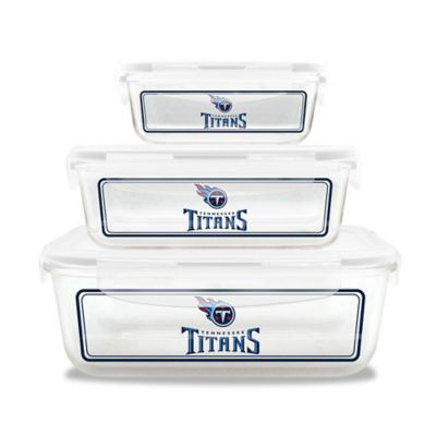 NFL Tennessee Titans 6-Piece Glass Food Container Set