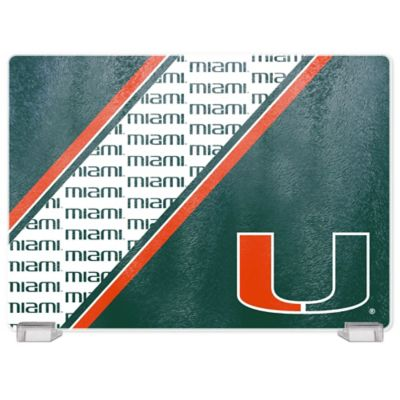 University of Miami Tempered Glass Cutting Board