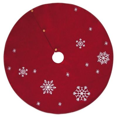 Snowflake 45-Inch Christmas Tree Skirt