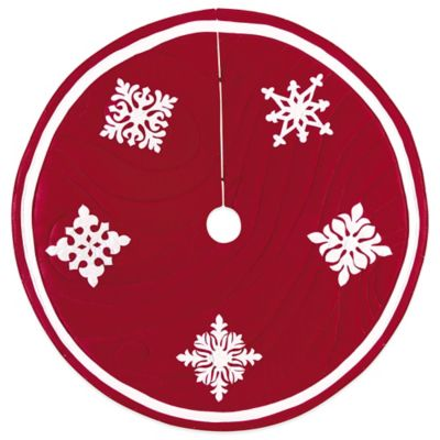 Snowfall 54-Inch Christmas Tree Skirt