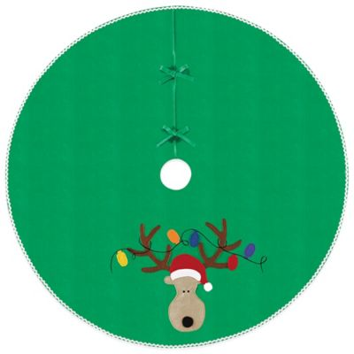 Reindeer 54-Inch Christmas Tree Skirt