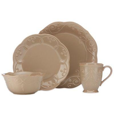 Lenox® French Perle™ 4-Piece Place Setting in Latte