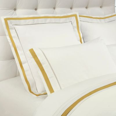 Downtown Company Chelsea Queen Sheet Set in Ivory/Nappel Gold