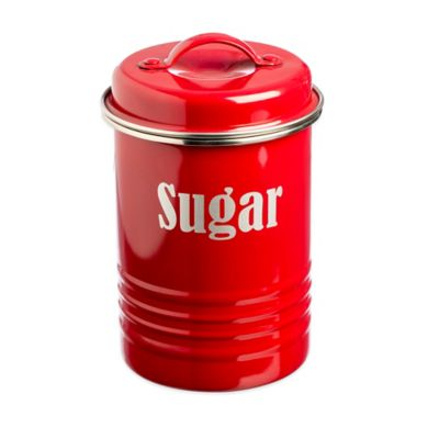 Typhoon® Vintage Sugar Canister in Red