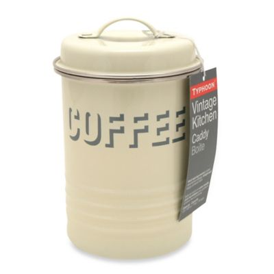 Typhoon® Vintage Coffee Canister in Cream