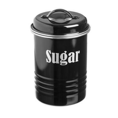 Typhoon® Vintage Sugar Canister in Black