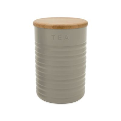 Typhoon® Ripple Tea Canister in Stone