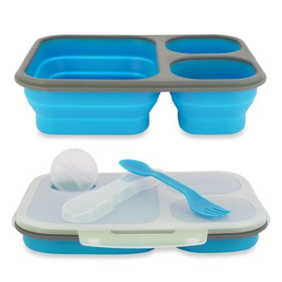 SmartPlanet Large Collapsible Eco Lunch Kit in Blue