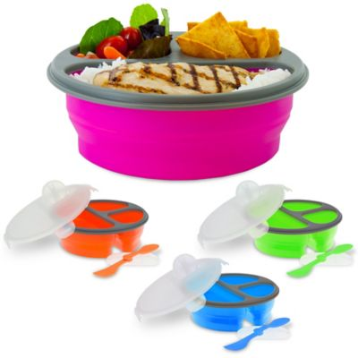 SmartPlanet Round Collapsible Meal Kit in Pink