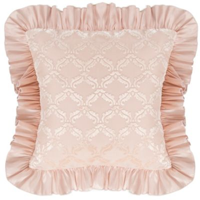 Glenna Jean Paris Velvet Cutout Pillow in Cream