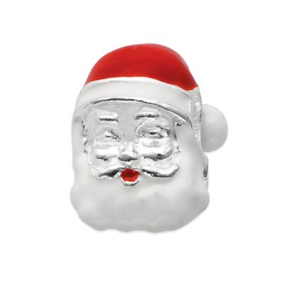 Personality Sterling Silver and Enamel Santa Bead
