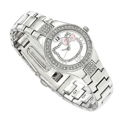 Hello Kitty® Fine Jewelry Crystal Silhouette Watch in Stainless Steel