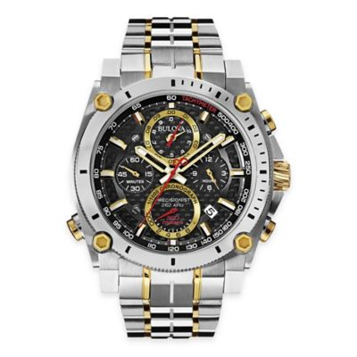 Bulova Men's 46.5mm Precisionist Chronograph Watch in Two-Tone Stainless Steel