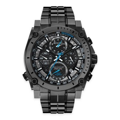 Bulova Men's 46.5mm Precisionist Chronograph Watch in Black Ion-Plated Stainless Steel