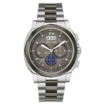 Bulova Marine Star Men's 43mm Classic Chronograph Watch in Stainless Steel with Grey Dial