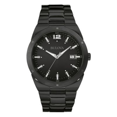 Bulova Classic Collection Men's 43mm Classic Watch in Black Ion-Plated Stainless Steel