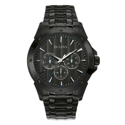 Bulova Classic Collection Men's 43mm Multi Dial Watch in Black Ion-Plated Stainless Steel