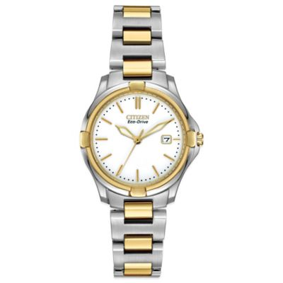 Citizen Eco-Drive Ladies' 28mm Silhouette Sport Watch in Two-Tone Stainless Steel