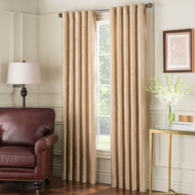 Eva 108-Inch Window Curtain Panel in Gold