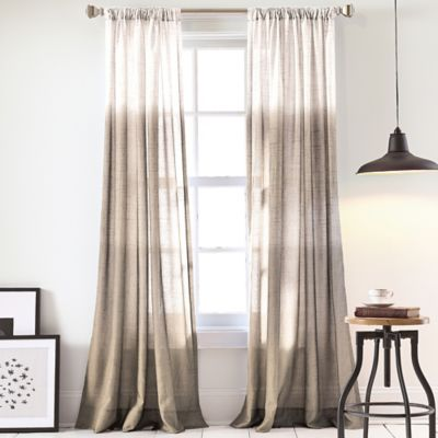 DKNY Urban Ombre 84-Inch Window Curtain Panel in Linen